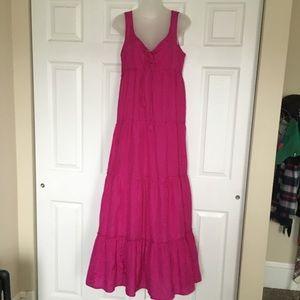 Calypso St Barth Stunning fuschia silk maxi dress